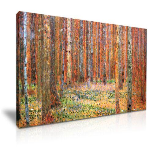 Gustav Klimt Tannenwald I 1901 Forest Canvas Modern Home Office Wall Art Box