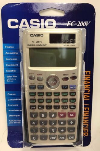 FC-200V Casio Financial Calculator with 4-Line Display