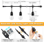 Waterproof LED E 48FT Dimmable LED Outdoor String Lights for Patio with Remotes