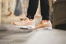 Nike Air Max 90 Woven Vachetta Tan Brown Premium Leather UK 8 US 9 Flax Wheat 95