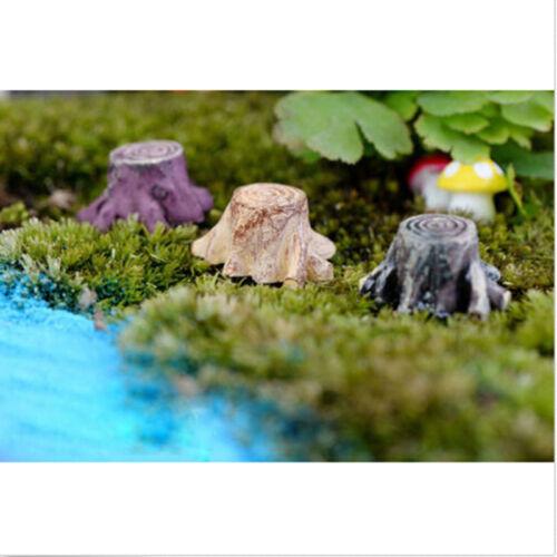 Baumstumpf Miniatur Garten Ornament Pilz Handwerk Topf Fairy Dollhouse GutSA
