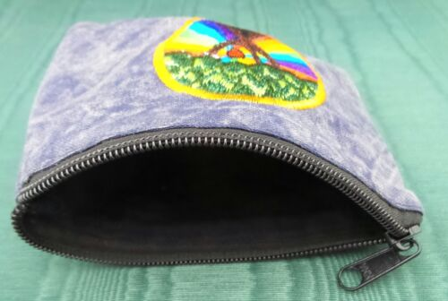 Blue Coin Purse Tree of Life Rainbow Bag Pouch Credit Card ID Holder Wallet New