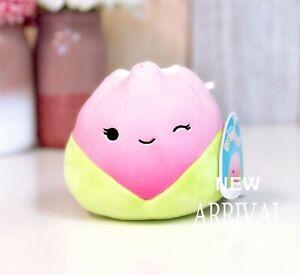 "KellyToy Squishmallow 5"" Bridgie the Pink Tulip Flower NEW HTF LT ED Plush Toy"