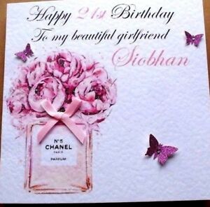 Image Is Loading PERSONALISED HANDMADE BIRTHDAY CARD 16TH 18TH 21ST DAUGHTER