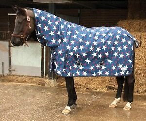 Details About Rhinegold Star Lightweight Combo Turnout Rug Rain Sheet Horse Pony Sizes