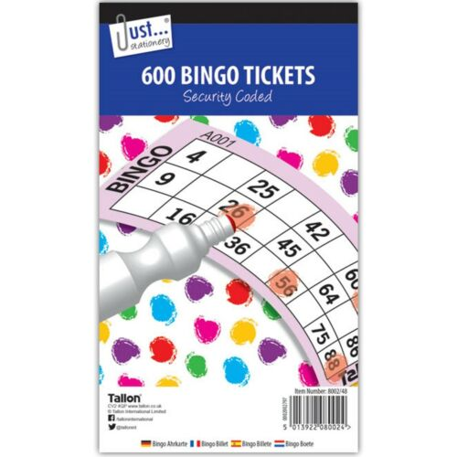 DABBER PENS Fun Game Party Markers Sheet Pad SECURITY CODED BINGO TICKET BOOKS
