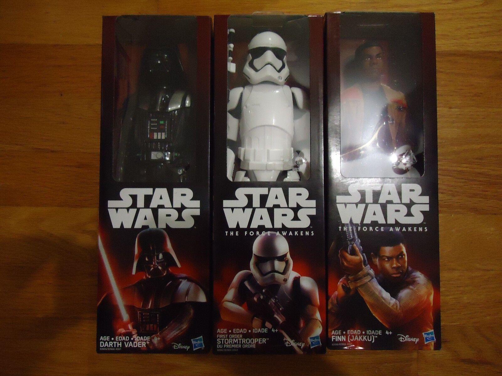 Star wars force weckt 12  ist, um strormtrooper, finn (jakku), darth vader