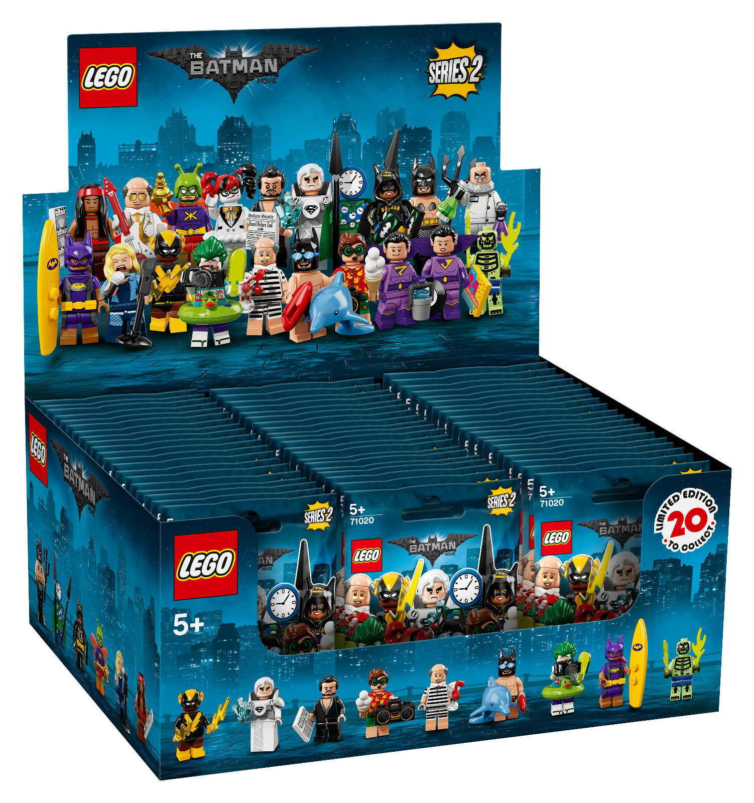 Lego 71020 Display - Batman il Film Serie 2 INKL.60 Figure Consegna Immediata