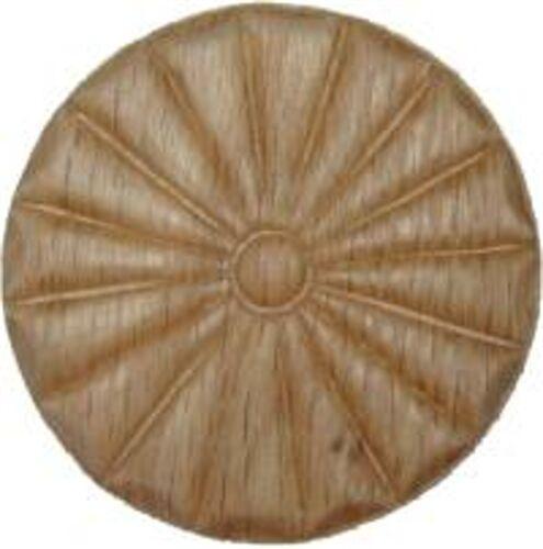 "OAK Embossed Wood Ornament 2 13//16/"" Rosette   W35797"