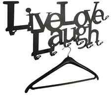 Garderobe LIVE LOVE LAUGH - 58 cm, Flur WANDGARDEROBE, 8 Haken - das Original