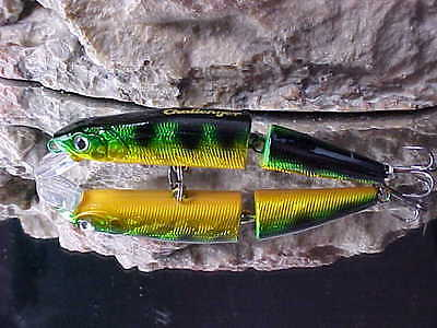 """Challenger 3 1//2/"""" Jointed Jr Minnow MG008F-T07 in GLOW GREEN for Bass//Salmon"""