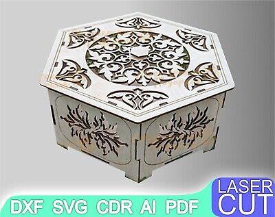 Laser cut Files SVG DXF CDR vector plans cnc cut files Instant download laser cut Champagne box cnc pattern