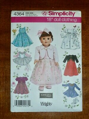 Simplicity 0617 18in Doll Clothes Pattern 7 Looks NEW!