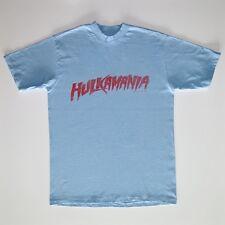 VINTAGE ORIGINAL WWF HULKMANIA TEE SHIRT HULK HOGAN 1985 WRESTLING MEDIUM BLUE