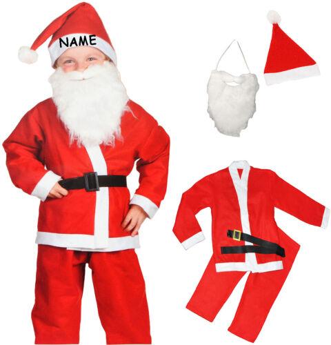 5 tlg 122-146 Gr Karneval // Weihna 6 bis 9 Jahre Kostüm Weihnachtsmann
