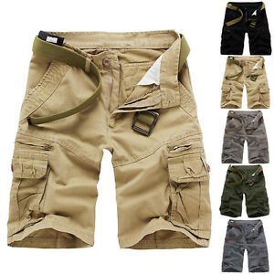 New-Fashion-Summer-Combat-Mens-Casual-Work-Short-Pant-Army-Cargo-Shorts-Trousers