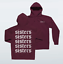 miniatuur 24 - SISTERS-SMALL-FRONT-amp-LARGE-BACK-James-Charles-Hoodie-Make-Up-Artist-Dolan