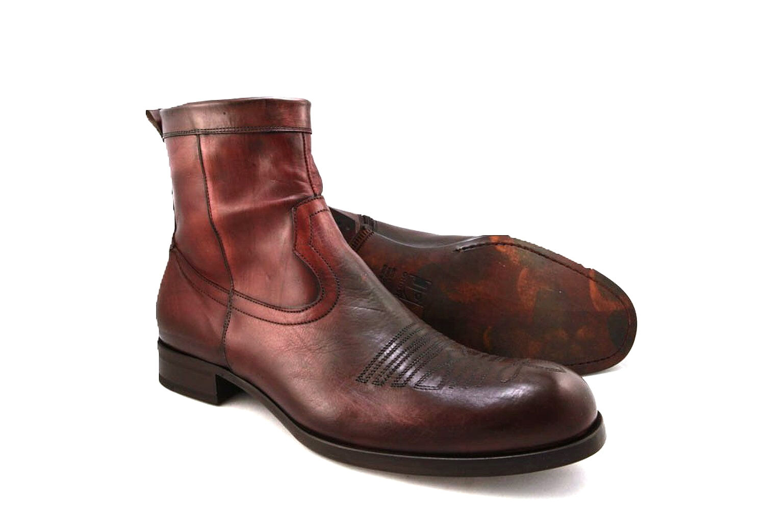 Jo Ghost 1922M Men's Brown Leather Ankle High Boots