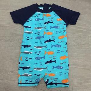 Boys-Baby-Toddler-Kids-Bathers-Rashsuit-Swimsuit-Sun-Suit-Rashie-Swimwear-Togs