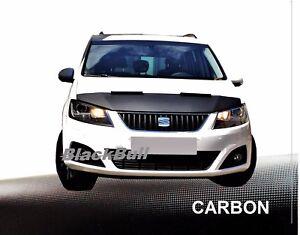Haubenbra-Seat-Alhambra-Car-Bra-Steinschlagschutz-Tuning-amp-Styling-CARBON