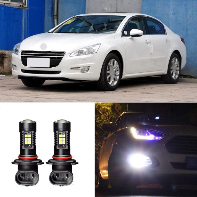 2x Canbus H8 3030 21SMD LED DRL Daytime Running Fog Lights Bulbs For Peugeot 508
