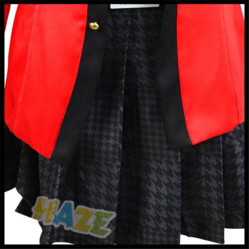 Kakegurui Gambler Yumeko Jabami Mary Saotome Cosplay Costume Uniform