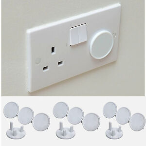24 socket cover child baby proof plug socket safety protector covers insert ebay. Black Bedroom Furniture Sets. Home Design Ideas