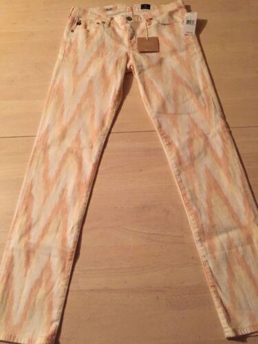 Nuovo donna dondolo skinny 185 Adriano a taglia arancio Jeans da Goldschmied 27 bianco qPXxOwF