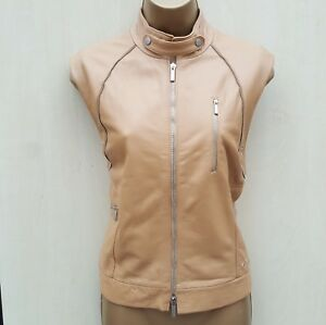 Uk Leather Soft Gilet 14 Tan 42 Day Jacket eu Out Millen Waistcoat Karen Casual qSAw11