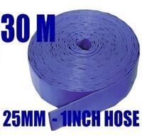 30M x 25mm (1inch) BLUE  LAYFLAT HOSE WATER PUMP SUBMERSIBLE PUMP HOSE