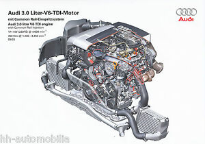2434AU-Audi-3-0-V6-TDI-Motor-Common-Rail-Prospekt-2003-9-03-Bildprospekt