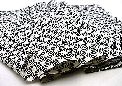 Japanese Cotton Fabric TENUGUI Cloth_ASANOHA-bk,#t009_08780