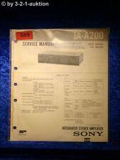 Sony Service Manual TA A200 Amplifier  (#0589)