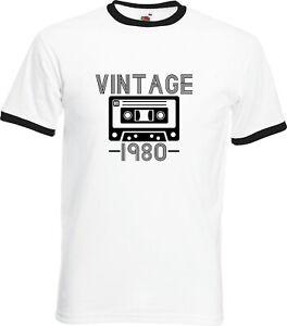 VINTAGE-1980-41ST-BIRTHDAY-T-SHIRT-GIFT-TAPE-CASSETTE-RETRO-ALL-SIZES