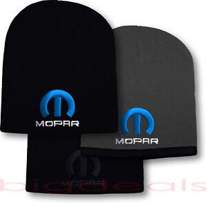 Mopar-Logo-Beanie-Skull-Cap-Hat-Emblem-Dodge-Hemi-Ram-Jeep-Charger-Challenger