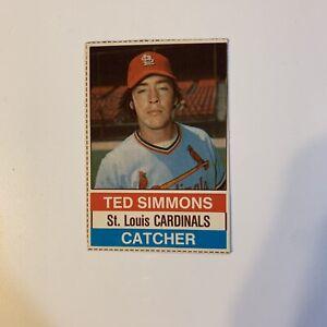 1976 Hostess Ted Simmons # 113 St. Louis Cardinals Baseball Card Hand Cut HOF