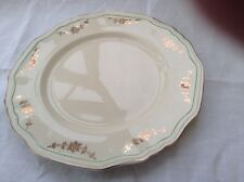 """Alfred Meakin post 1945 Scalloped Plate 10""""gold swags Green ring off edge MEA278"""