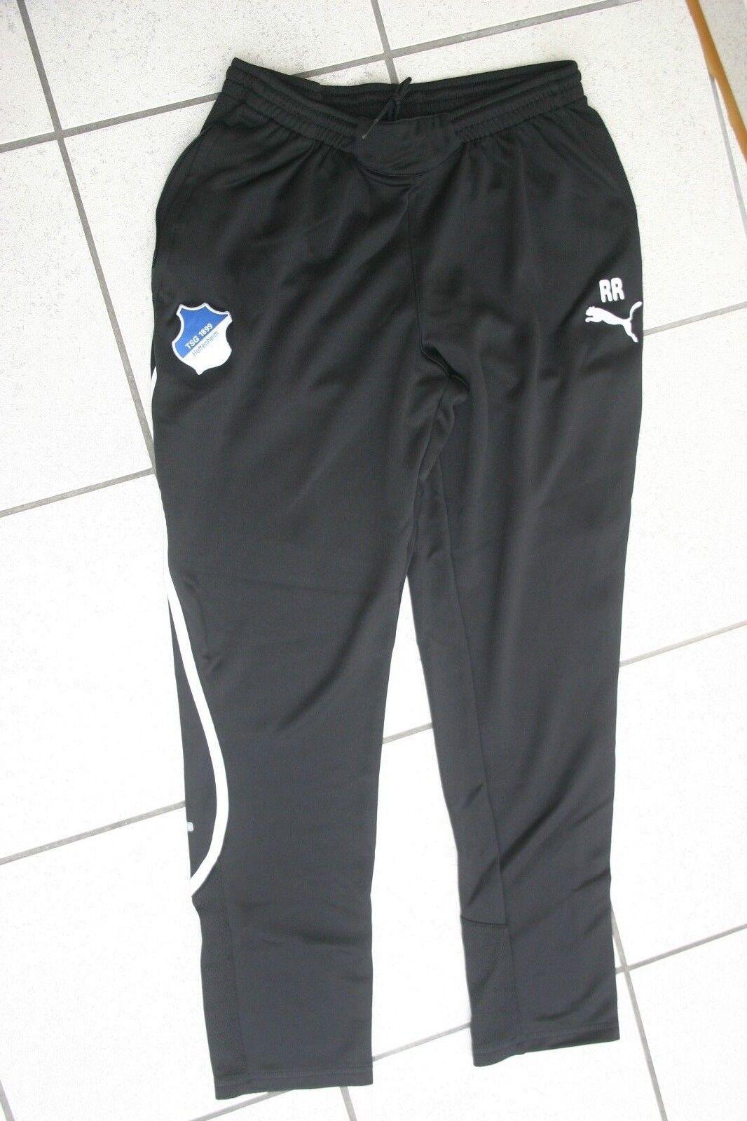 Trainingshose original getragen Ralf Rangnick TSG Hoffenheim Gr. M schwarz