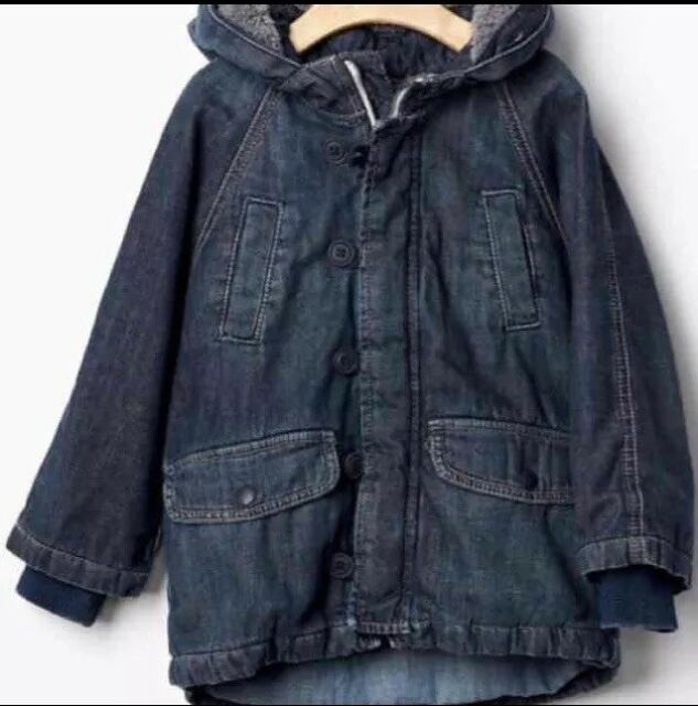 9bdea96b4 Baby Gap 1969 Denim Snorkel Jacket Blue Thick Jacket Winter Size 4 ...