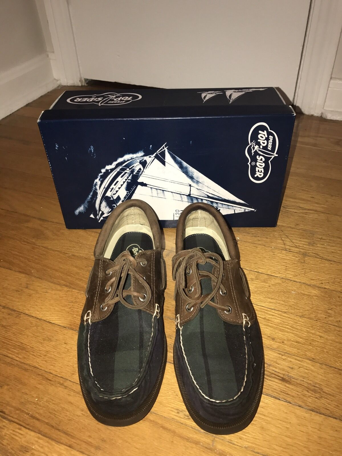 Sperry Top-Sider A O Plaid Cloth Boat shoes, Men's Size 9.5