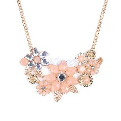 Fashion Womens Charm Pendant Chain Crystal Choker Chunky Statement Bib Necklace