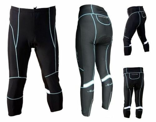 * Black with Blue Line New WOMAN FALL LENGTH CYCLING PANTS Size XL