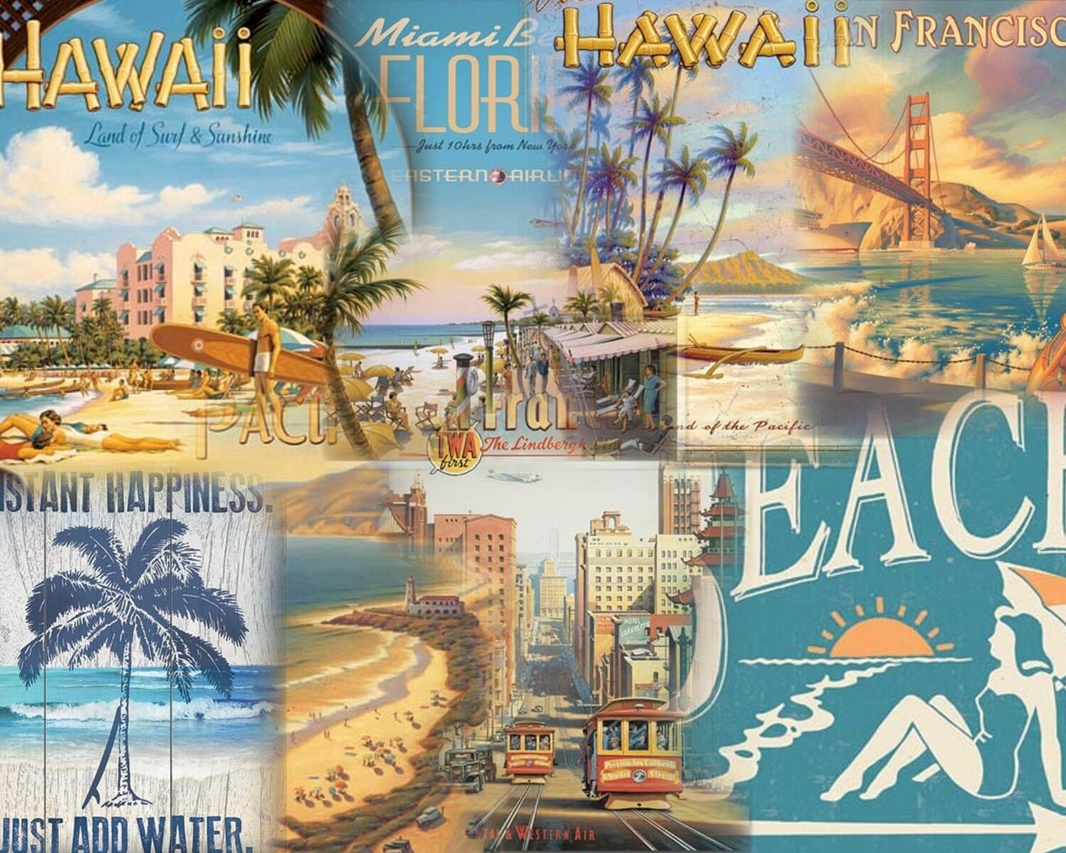 15 DIFFERENT DESTINATIONS METAL SIGNS SET  EA. FREE SHIPPING YOU GET ALL 15