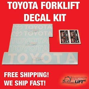 TOYOTA-FORKLIFT-DECAL-KIT-7FGCU25-7FGU25-FORK-LIFT-DECALS