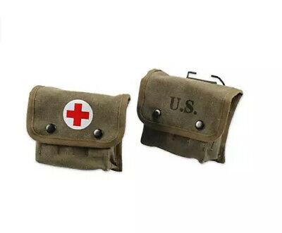 WWII WW2 US army  Jungle first aid kit army green three type