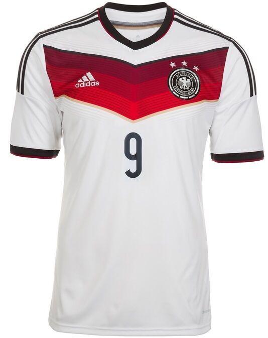 Trikot Adidas DFB WM 2014 Home - Völler 9  Fußball Deutschland