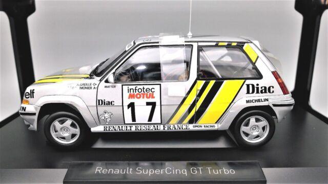 MODELLINO AUTO RENAULT 5 SUPERCINQUE GT TURBO RALLY 1/18 DIECAST NOREV NUOVI