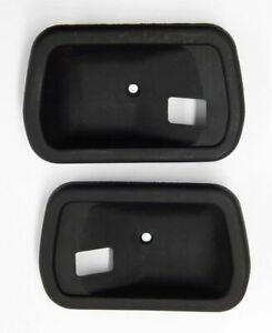 MAZDA SAVANNA  RX3 808 COUPE TWO DOOR INTERIOR SCRATCH PADS PLATES BLACK 2PCS