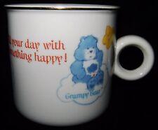 Vtg CARE BEARS Porcelain Coffee Mug Cup 1984 Grumpy Tenderheart Cheer Happy