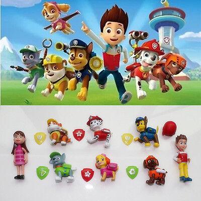 Cute 8pcs PAW PATROL Cartoon Action Figures Doll Kids Children Baby Boy Girl Toy